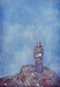 "Prospero, by Edmund Dulac, 1915. ""And by my prescience, I find my zenith doth depend upon a most auspicious star."""